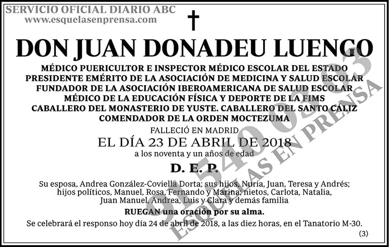 Juan Donadeu Luengo